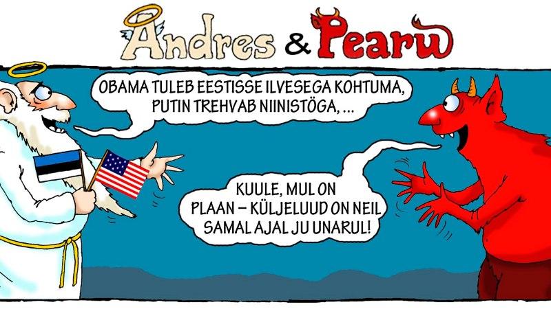 Andres ja Pearu:  Ilves kohtub Obamaga, aga Niinistö Putiniga