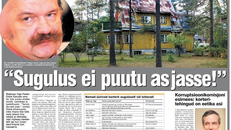 VANA HITT | Riigikogulane Olesk üürib maksumaksja raha eest korterit õelt, Kaal ja Pärnoja aga parteikaaslaselt