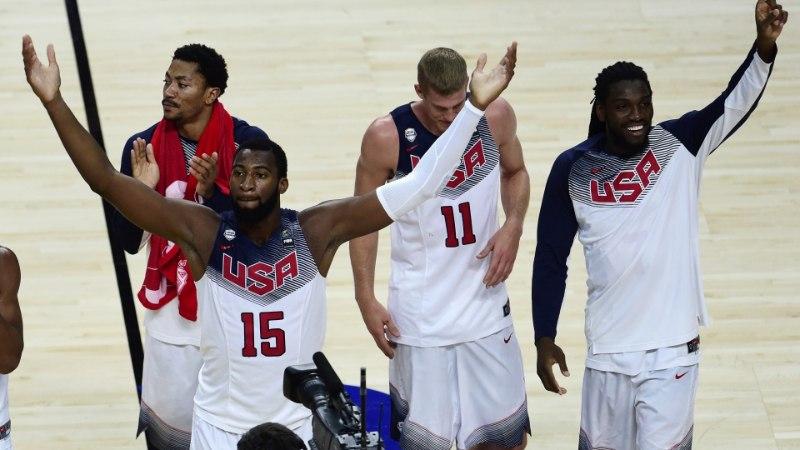 JÕUDEMONSTRATSIOON: USA läks juba esimese veerandajaga oma teed ja võitis finaali lõpuks 37 punktiga