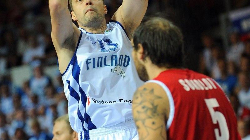 Soome läbi aegade parim korvpallur viskas ketsid varna