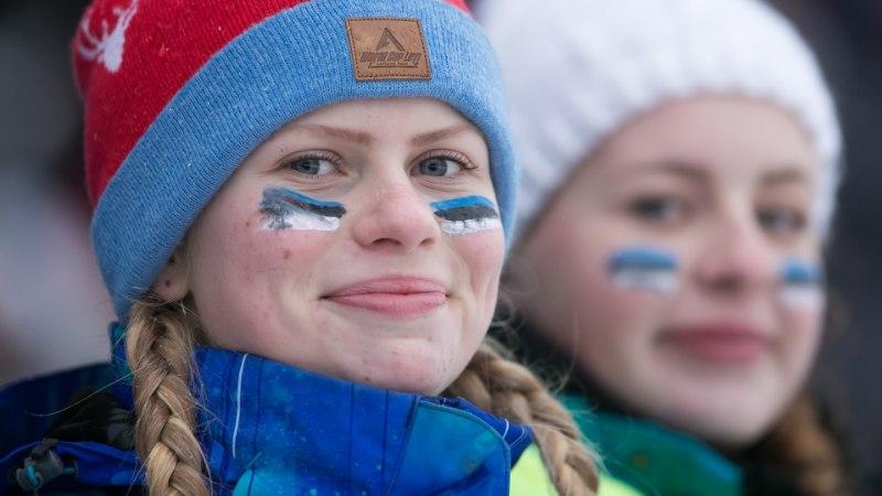 Otepääl võidukad Northugi väike veli Tomas ja Ingvild Östberg. Ükski Eesti suusataja veerandfinaali ei pääsenud