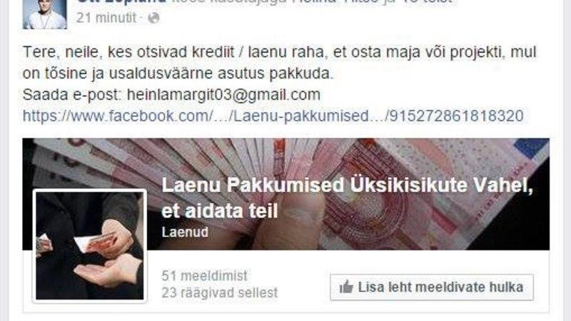 Ott Leplandi Facebookis tegutseb pahatahtlik viirus