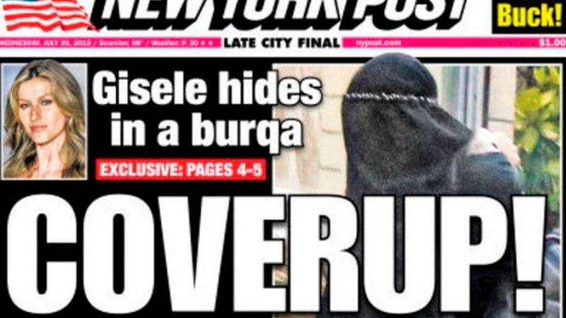 VALMIS NÄITAMISEKS! Gisele Bündchen näitas viimaks avalikult, mida ta burka all peitis