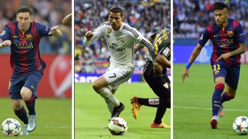 Aasta parim jalgpallur on kas Ronaldo, Messi või Neymar
