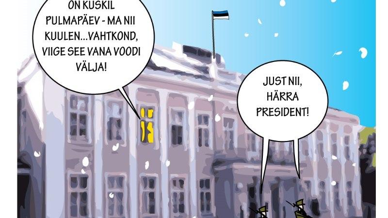 Karikatuur | President valmistub Ieva tulekuks
