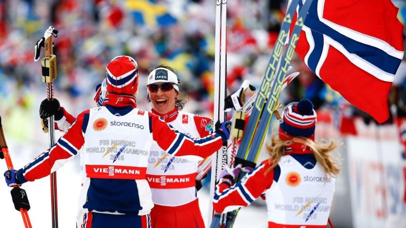 FALUNI MM | Marit Björgen tõusis Jelena Välbe kõrvale - mõlemal on 14 MM-kulda!