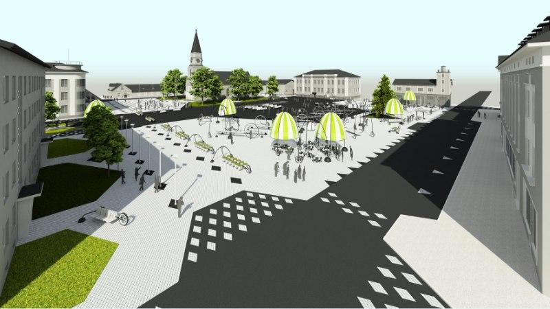 Võrukad mures: linnavalitsus tahab pargi asemele rajada keskväljaku