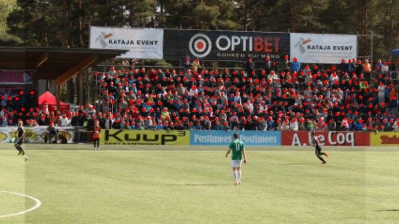 Kontroll tõestab: Kalju - Levadia jalgpallimatši vaatas rohkem pealtvaatajaid, kui Tartus peetud korvpalli finaalmängu