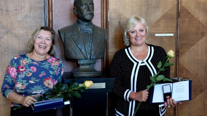 Anne Veski ja Õnne Pollisinski pälvisid Tallinna teenetemärgi