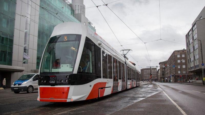 Juulis suletakse trammiliiklus Viru väljakul