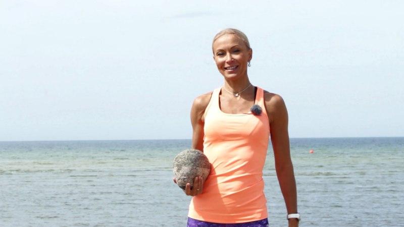 VIDEO: Kuidas rannas vormi saada?  Riina Suhotskaja näitab!