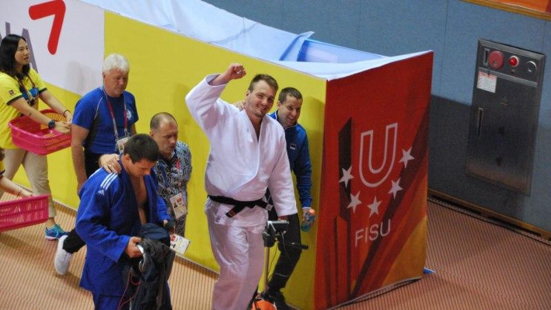 Judoka Juhan Mettis jõudis tervisehädade kiuste universiaadil finaali