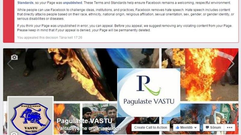 Facebook pani pagulastevastase lehe kinni