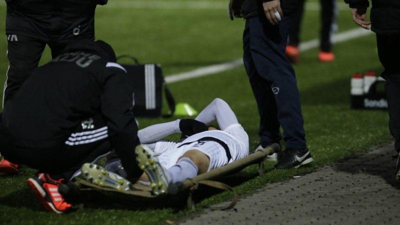 FOTOD   Kalju võitu jäi tumestama võtmemängija Hidetoshi Wakui vigastus