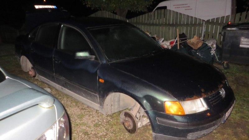ÖINE JÄLITUSSÕIT VILJANDIMAAL: autoomanik kihutas rehvivaraste kannul ja andis nad politsei kätte