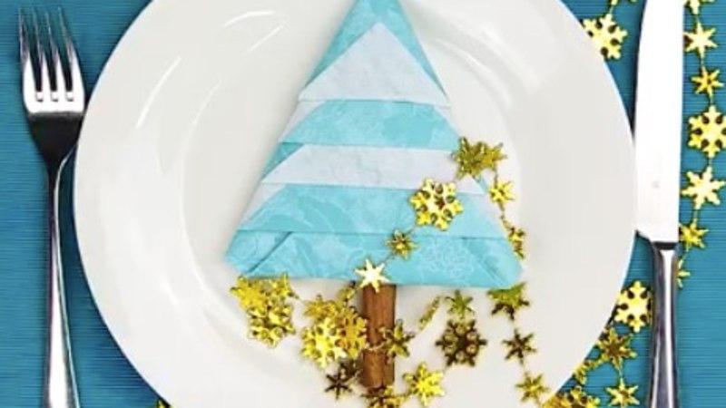 VIDEO! Kuusekujulised salvrätid lisavad jõululauale särtsu