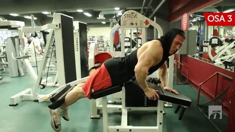 OTT KIIVIKA TRENNIKOOL   3. osa: kõhuli trenažööril jalgade kõverdamine jalatagaosale