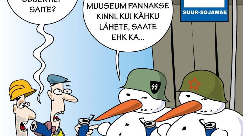 Karikatuur   Okupatsioonimuuseum astub ellu