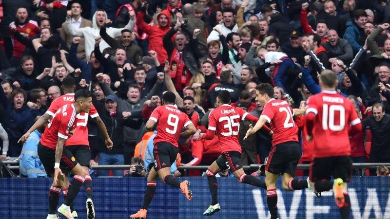 VIDEO | ManU alistas FA karika poolfinaalis Evertoni kolmanda lisaminuti väravast