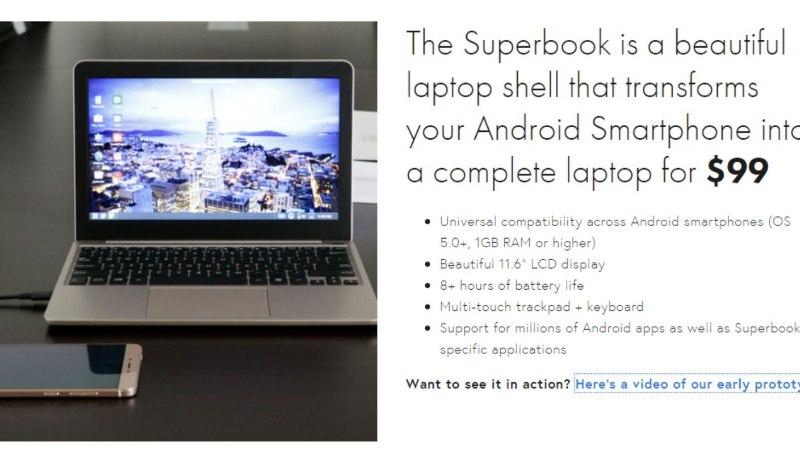 Nutitelefon sülearvutiks 87 euroga?