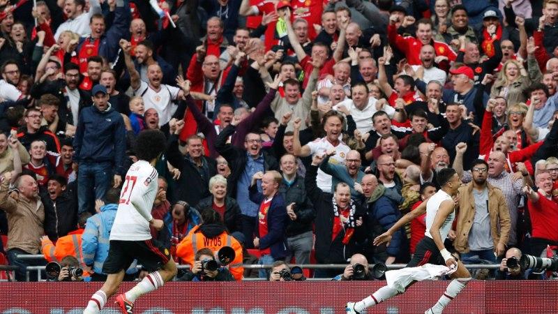 FOTOD   Manchesteri võidupidu: Van Gaal sai lõpuks tiitli