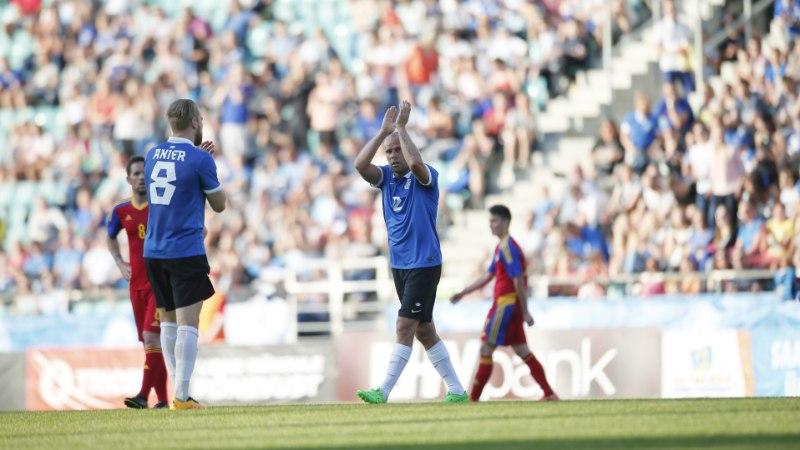 """7 VÕTIT   Joel """"Juki"""" Lindpere saadeti väärikalt erru, Eesti - Andorra 2:0"""