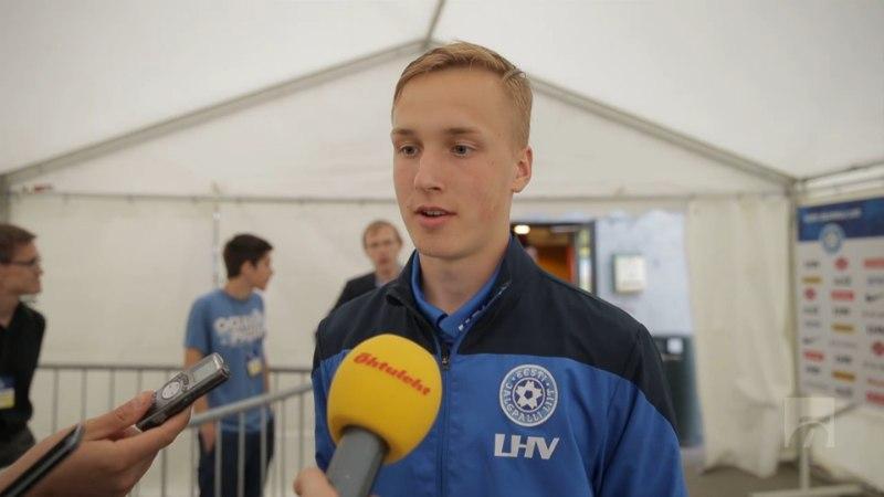 ÕHTULEHE VIDEO | Debütant Jan Kokla Joel Lindperest: väga sümpaatne jalgpallur, kõigile eeskujuks