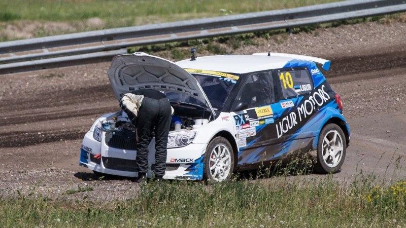 GALERII | Isegi katkestamine ei takista! Janno Ligur võitis vaatamata mehaanilisele ebaõnnele koduse rallikrossietapi