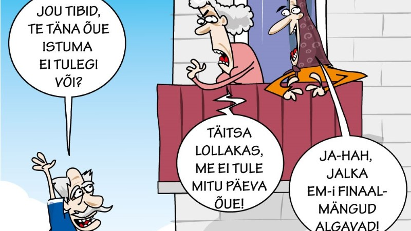 Karikatuur   Mitu päeva kodus