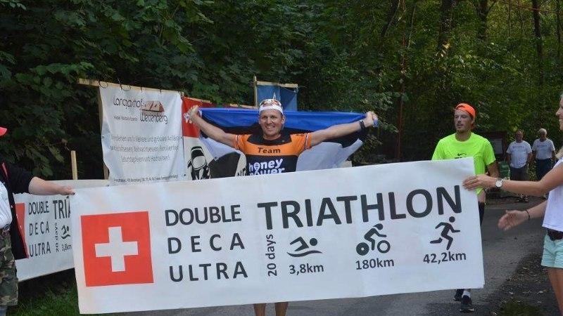 VIDEO | Hull mees, aga supermees! Eestlane läbis 10 päevaga 10 täispikka triatloni! Maailmarekordilise ajaga!