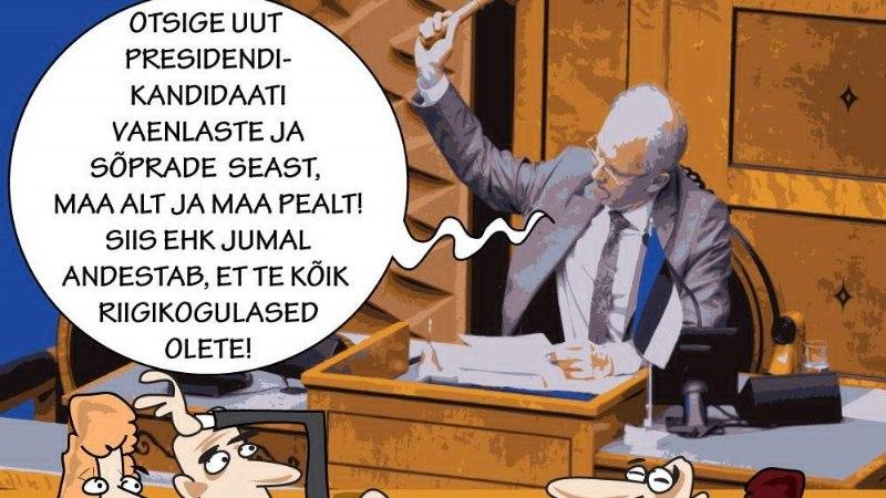 Karikatuur | Otsige presidenti!