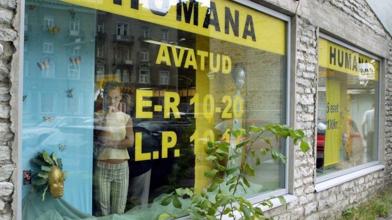 Humana kauplused lõpetavad riideannetuste vastuvõtmise