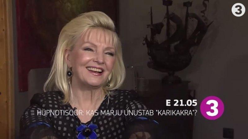"""""""Hüpnotisöör"""" täna: Kas Marju Länik unustab hüpnoosi all hittloo """"Karikakar"""" sõnad?"""