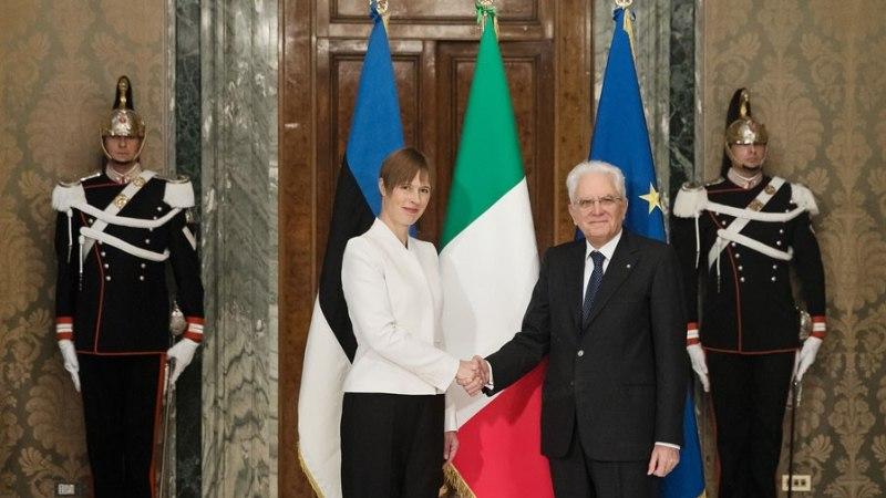 FOTOUUDIS | President Kaljulaid arutas Itaalia kolleegiga rände- ja digiküsimusi
