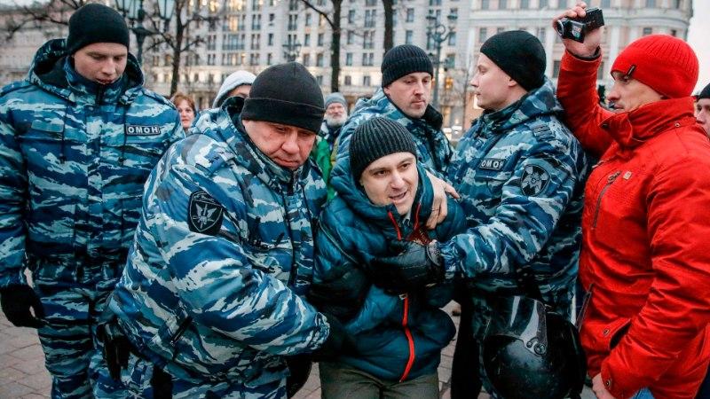 FOTOD | Politsei pidas Moskvas kinni sadu meeleavaldajaid