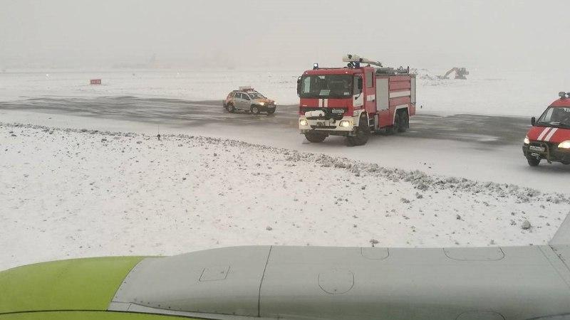 Moskva lennuväljal sõitis Air Balticu lennuk rajalt välja