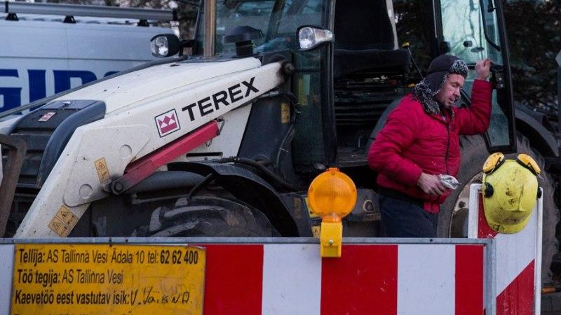 Tallinnas Pirital tekkinud veeavarii muutis tee libedaks
