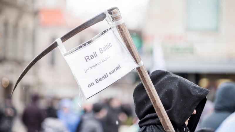 MEELEAVALDAJAD PROTESTISID: Rail Baltic on Eesti surm!