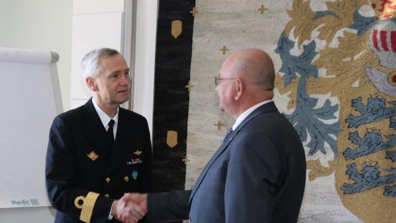 FOTOD | NATO kõrged mereväe ohvitserid külastasid Tallinna linnavalitsust