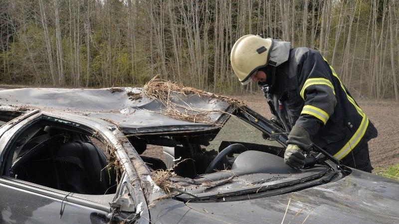 Auto uperpallitas katusele