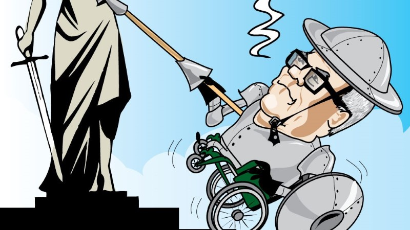 Karikatuur | Edgar Savisaar läheb rindele