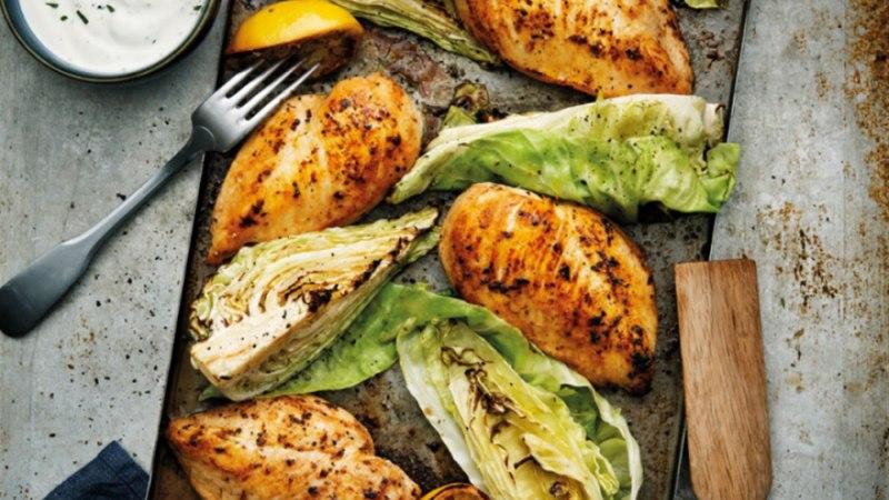 Piprane kana sidruni ja ahjus küpsetatud kapsaga