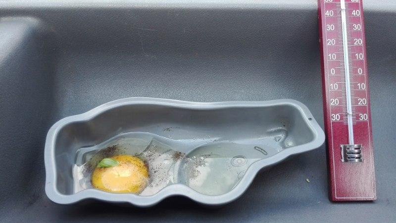 EKSPERIMENT: kas kuumal suvepäeval saab autos muna praadida?