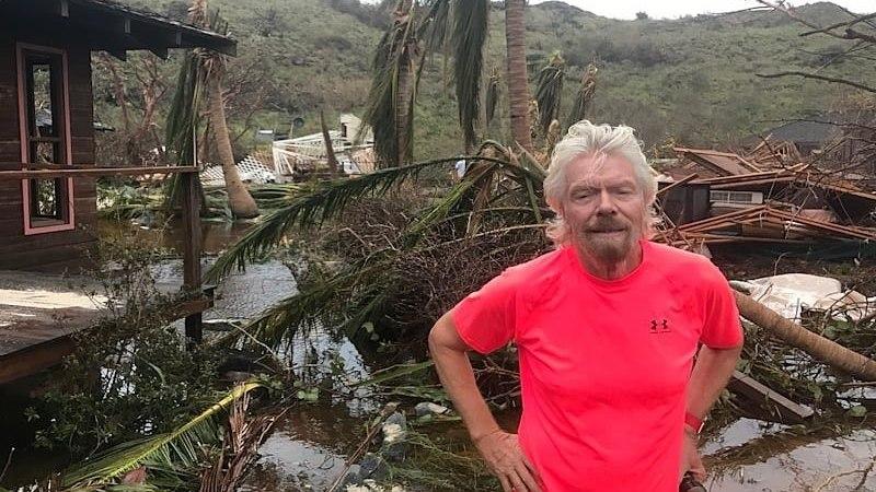PILTUUDIS | Richard Branson näitas, mida Irma tema erasaarel korda saatis
