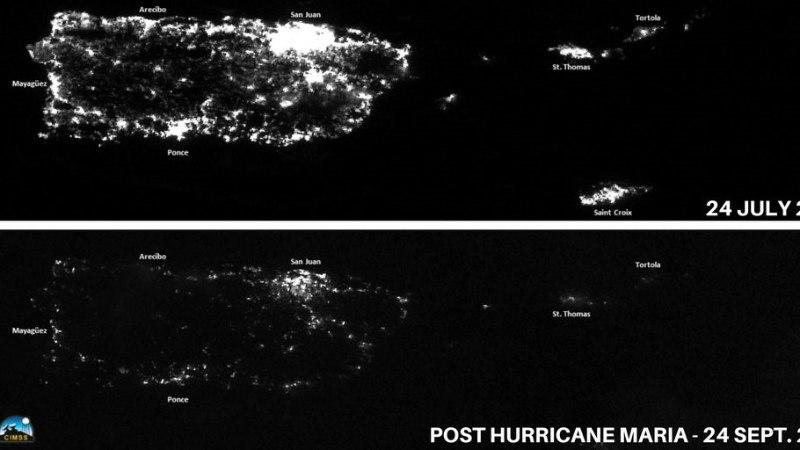 PILTUUDIS | Satelliitfotod Puerto Ricost enne ja pärast orkaan Mariat