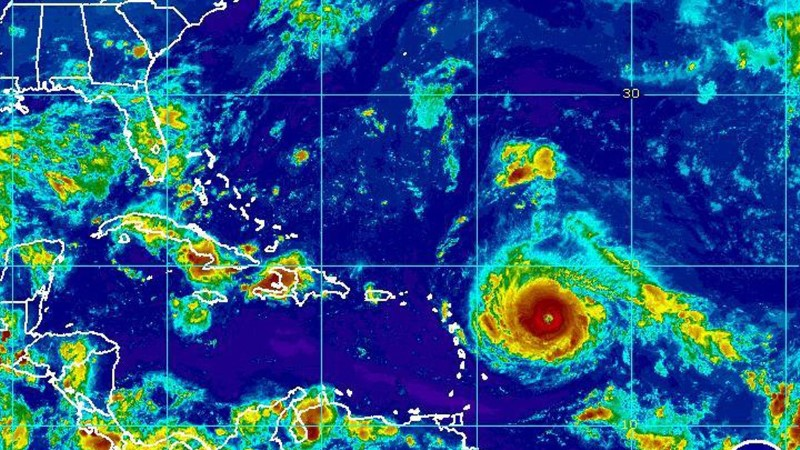 Orkaan Irma tugevneb ning ähvardab Kariibi mere saari