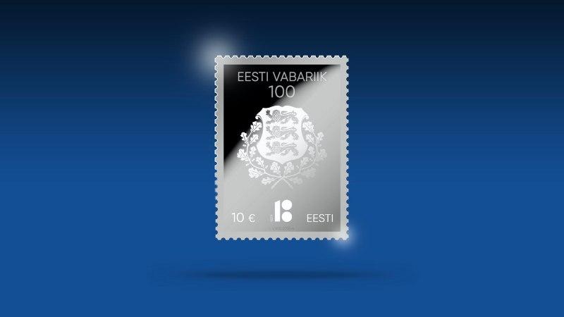 EV 100. sünnipäeva puhul tuleb müügile hõbedast postmark