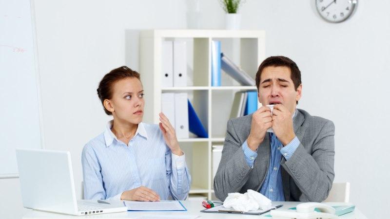 NALJA POLE: gripiviirus levib ka haigega sama õhku hingates