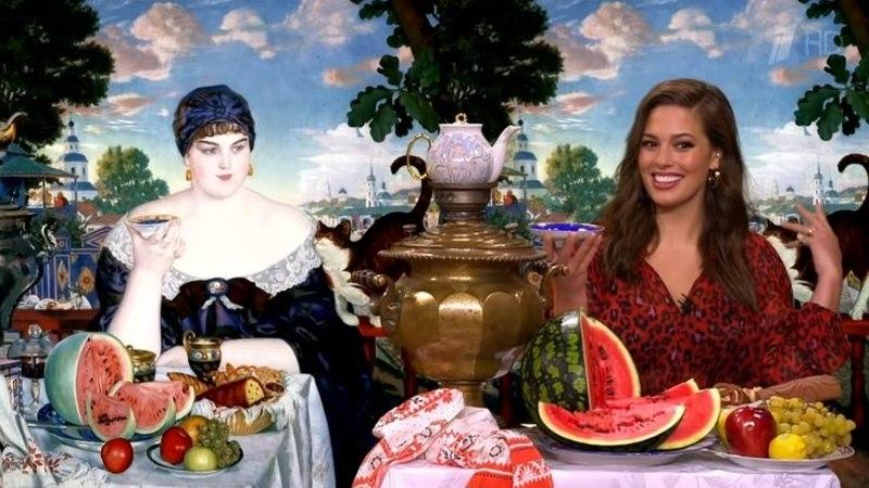 Известная plus-size модель Эшли Грэм после водки и красной икры стала гостьей шоу Ивана Урганта