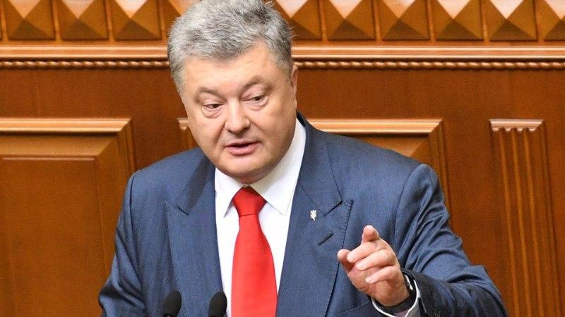 Порошенко обвинил Россию в поджоге военного склада